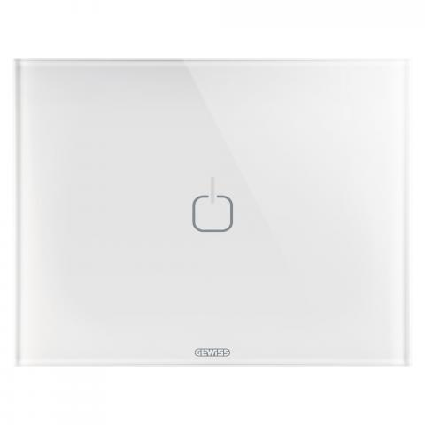 Plate ICE TOUCH - 1 symbol - Glass - White