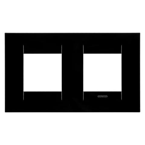 Рамка GEO International 2+2 хоризонтална - Toner Black