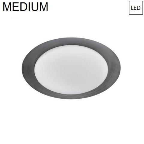 Плафон Ø386mm LED 17W 3000K тъмно сив