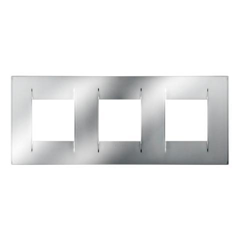 Рамка GEO International 2+2+2 хоризонтална - Chrome