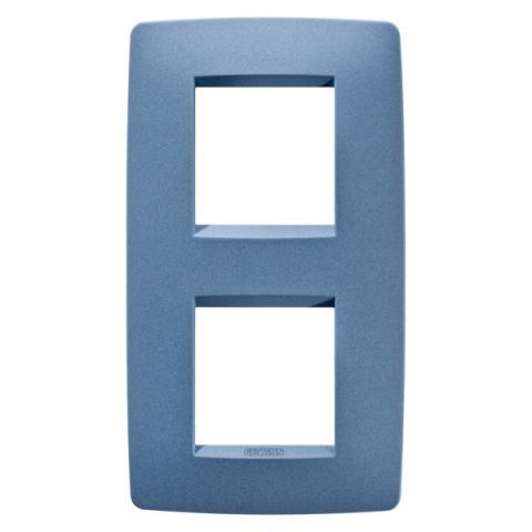Рамка ONE International 2+2 вертикална - Sea Blue