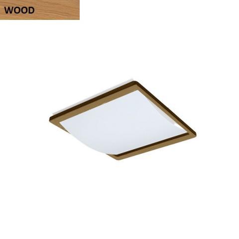 Ceiling light 2xE27 max 46W oak wood