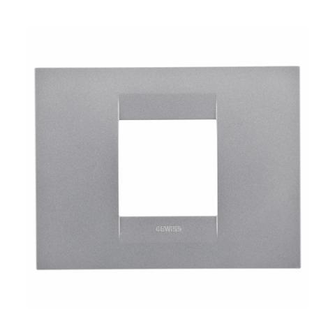 GEO plate 2-gang Titanium