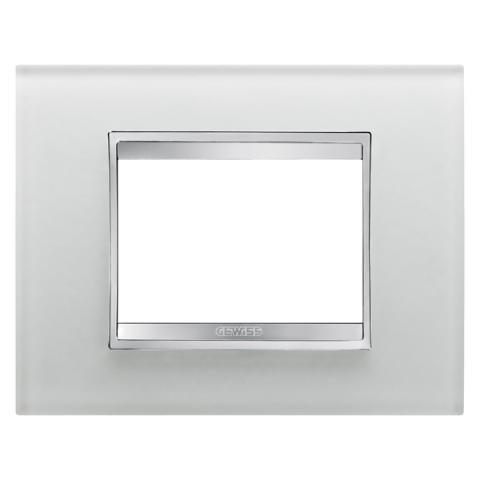 Рамка LUX 3 модула - стъкло - Ice
