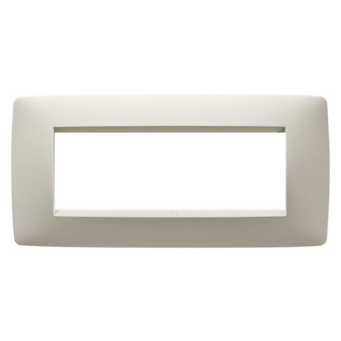 6-gang plate Ivory