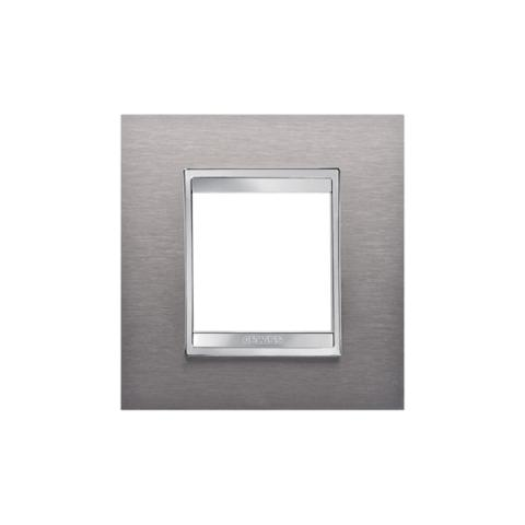 Рамка LUX International 2 модула - Brushed Stainless Steel