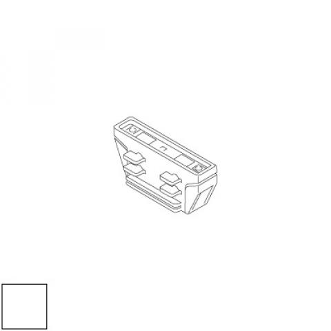Electrical straight joint for LKM track - white