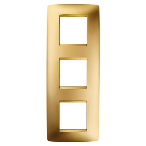 Рамка ONE International 2+2+2 вертикална - Gold