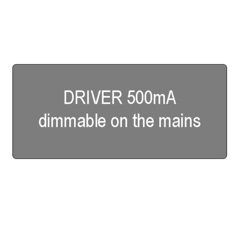 Driver 500mA dimmable on the mains