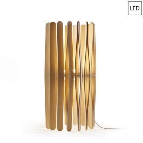 Настолна лампа Ø33cm 13W+8,7W LED светло дърво