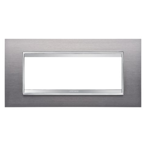 Рамка LUX 6 модула - Brushed Stainless Steel