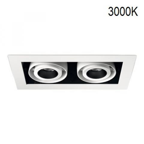 Multi-directional downlight KARDAN-IN 2X12/18W LED 3000K