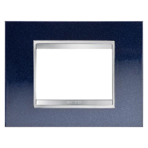 Рамка LUX 3 модула - метал - Chic Blue