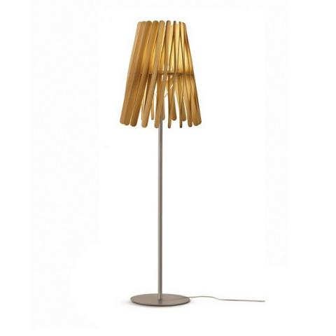 Наземна лампа Ø50cm E27 светло дърво