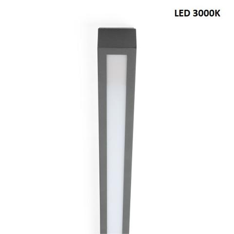 Ceiling light L - LED 20W 3000K - beton grey