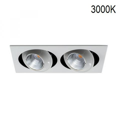 Twin multi-directional downlight MINIKYCLOS-IN 2X18/24W LED 3000K