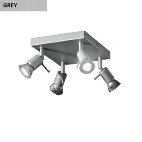 Ceiling lamp 4xGU10 grey