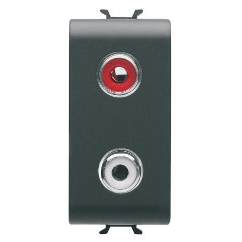 Audio/video socket - double RCA