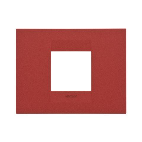GEO plate 2 gang - Ruby