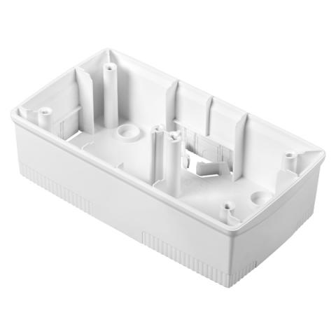 Wall-mounting box white 2+2 gang for plates ONE International