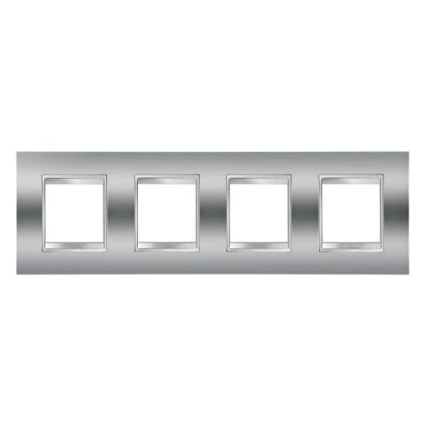 Рамка LUX International 2+2+2+2 хоризонтална - Chrome