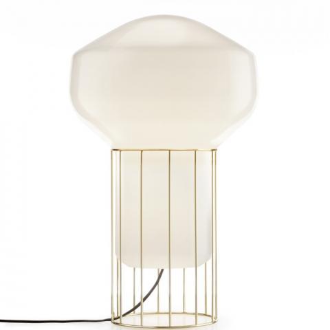 Настолна лампа H53cm Ø33cm месинг