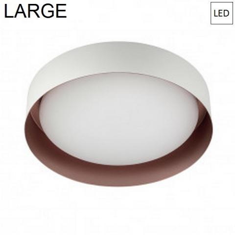 Плафон Ø402mm LED 22W 3000K бял/мед