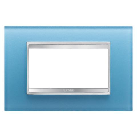 Рамка LUX 4 модула - стъкло - Aquamarine