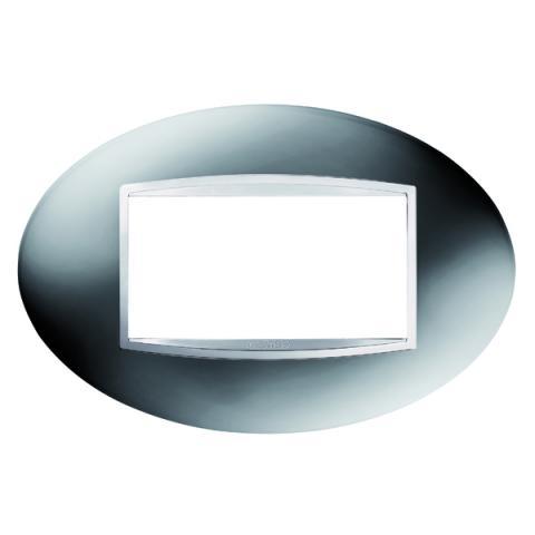 ART 4 gang plate - Chrome