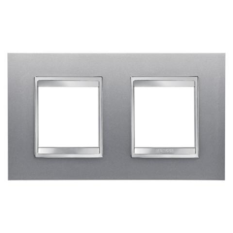 Рамка LUX International 2+2 хоризонтална - Titanium