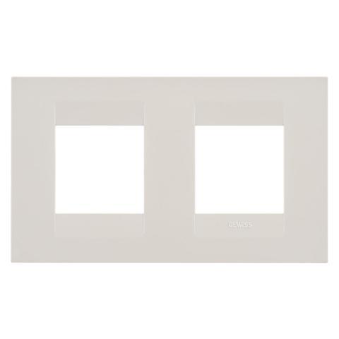 GEO International 2+2 gang horizontal plate - Ivory