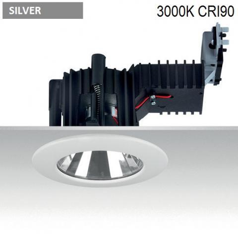 Downlight Ra 14 DIXIT LED 26W-33W-38W 3000K CRI90 silver