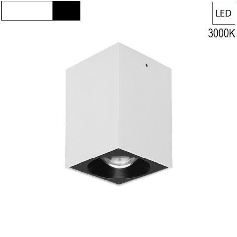 Ceiling Lamp/Spot  80x80 H120 LED 7.5W 3000K white/black