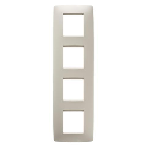Рамка ONE International 2+2+2+2 вертикална - Ivory