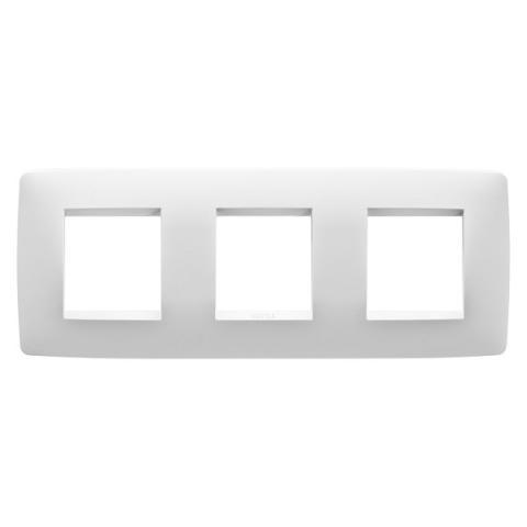 Рамка ONE International 2+2+2 хоризонтална - Milk White