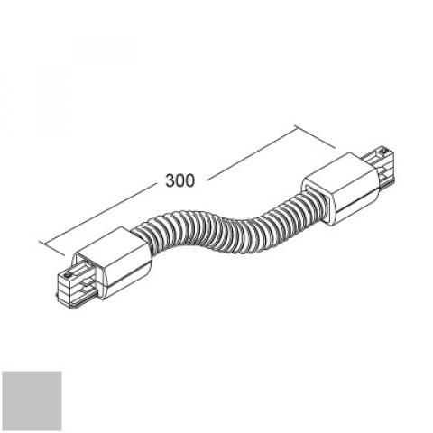Flexible joint for LKM Round track - silver