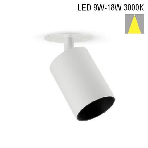Spot MICROPERFETTO LOW-R LED 9-18W 3000K white