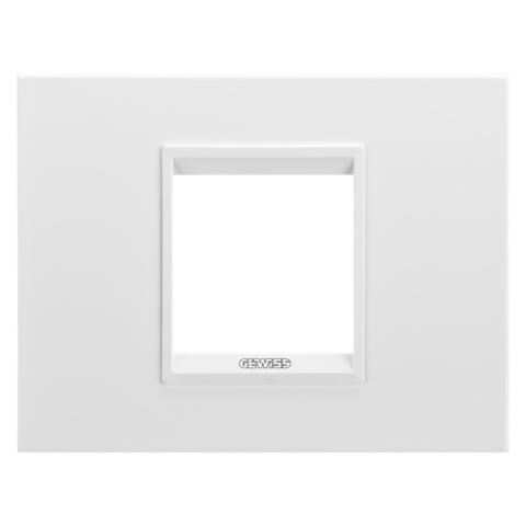 Рамка LUX 2 модула - метал - Monochrome White