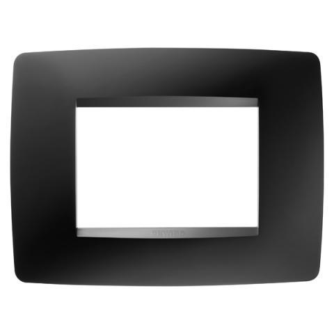 Рамка ONE 3 модула Satin Black