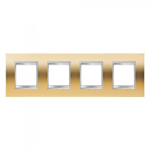 Рамка LUX International 2+2+2+2 хоризонтална - Gold