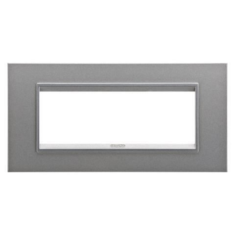 Рамка LUX 6 модула - метал - Monochrome Aluminium