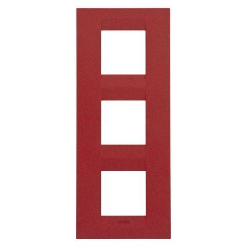 GEO International 2+2+2 gang vertical plate - Ruby