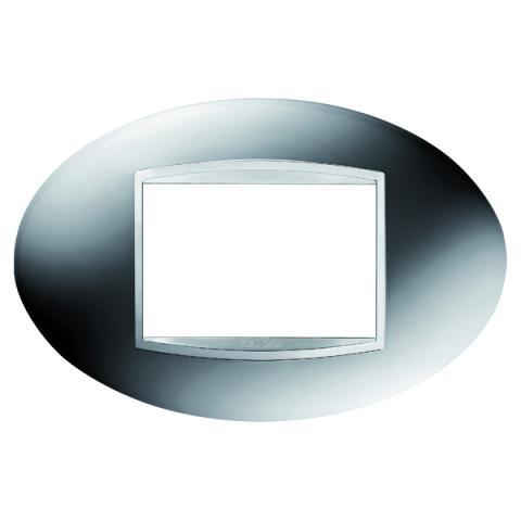 ART 3 gang plate - Chrome