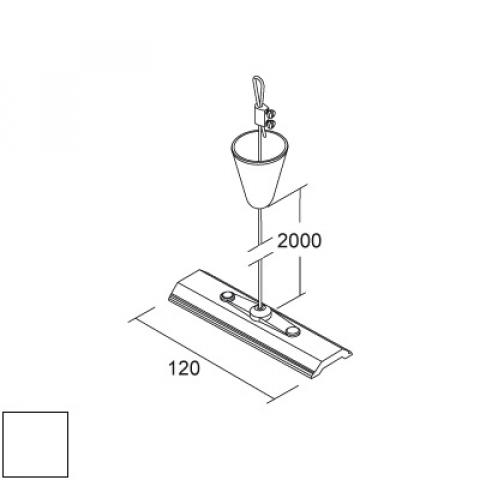 Suspension kit with steel wire 2000mm and 120mm plate