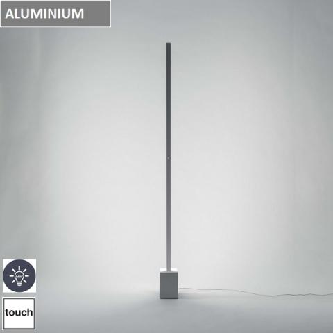 Floor Lamp LED TOUCH-DIM Polished Aluminium