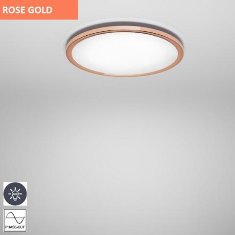 Плафон Ø477mm LED розово злато