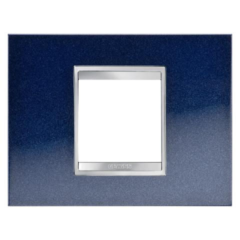 Рамка LUX 2 модула - метал - Chic Blue