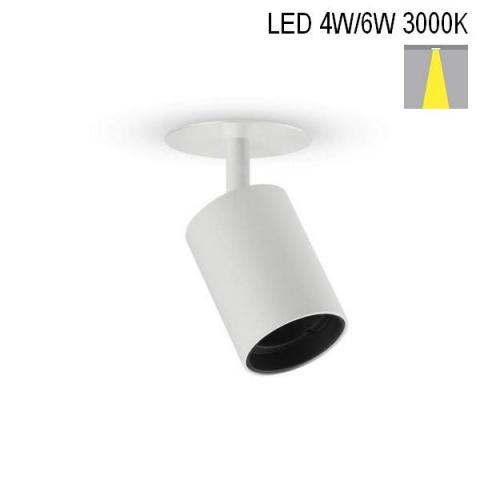 Спот NANOPERFETTO-R LED 4W-6W 3000K бял