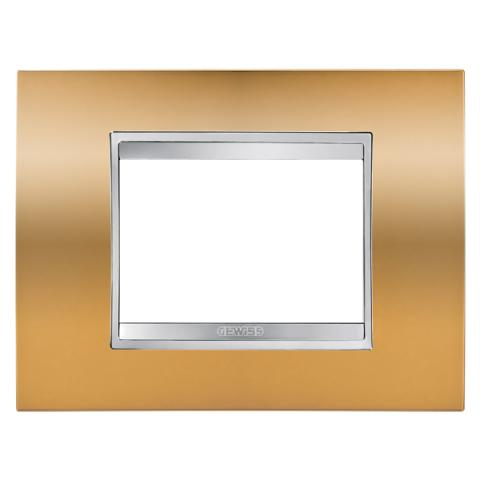 LUX 3-gang plate Gold