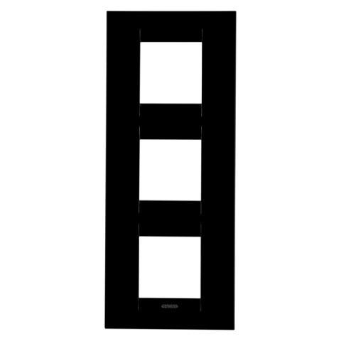 GEO International 2+2+2 gang vertical plate - Toner Black